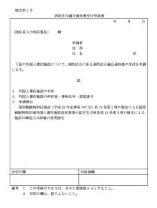 消防法令適合通知交付申請書