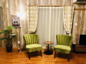 民泊のカーテン